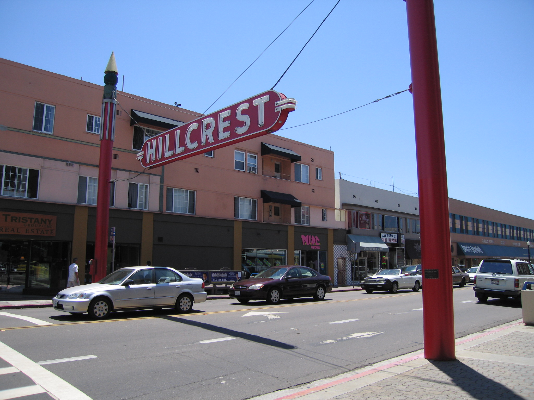 University Avenue in Hillcrest, the heart of San Diego's LGBTQ community and a favorite neighborhood during San Diego Pride