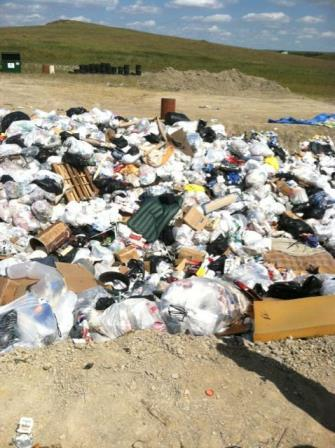 Illegal dumping of trash and toxins by the sacred site Bear Butte