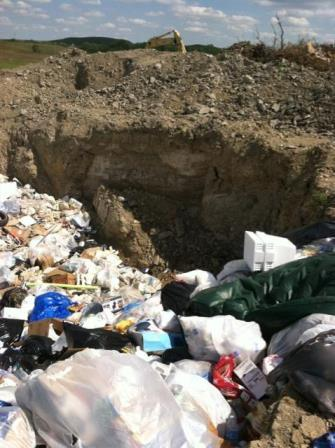 Illegal dumping includes household waste and oil drums