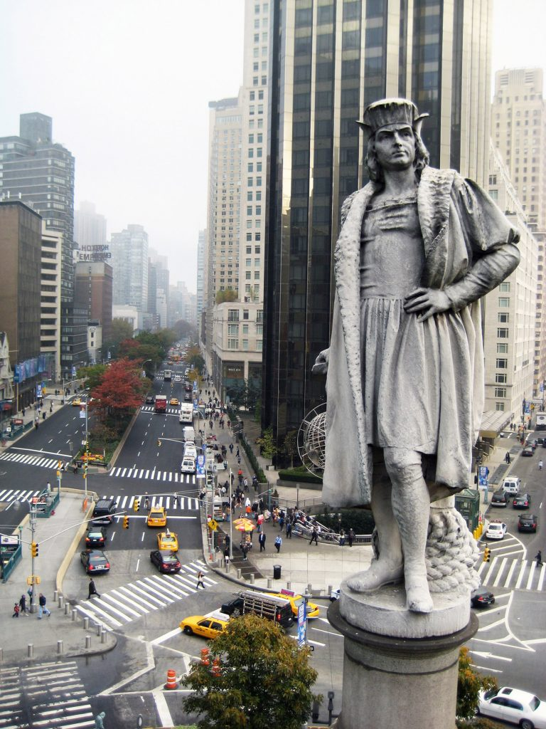 Columbus monument in New York