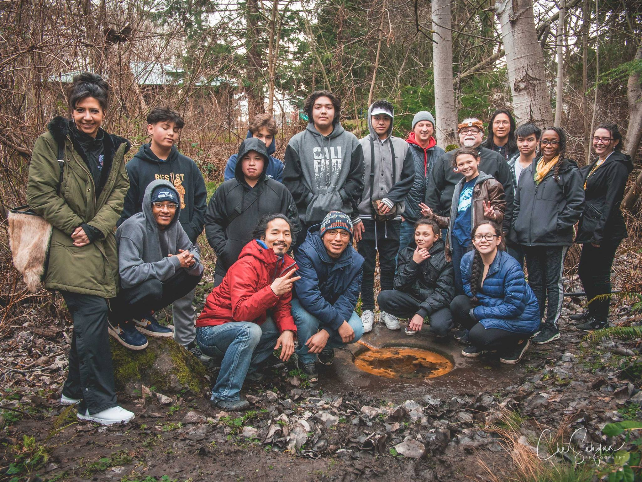 Clear Sky youth working on Licton Springs preservation