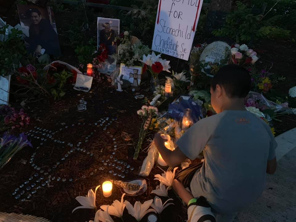 Candlelight vigil held for Stonechild Chiefstick. Photo by Suquamish Tribe