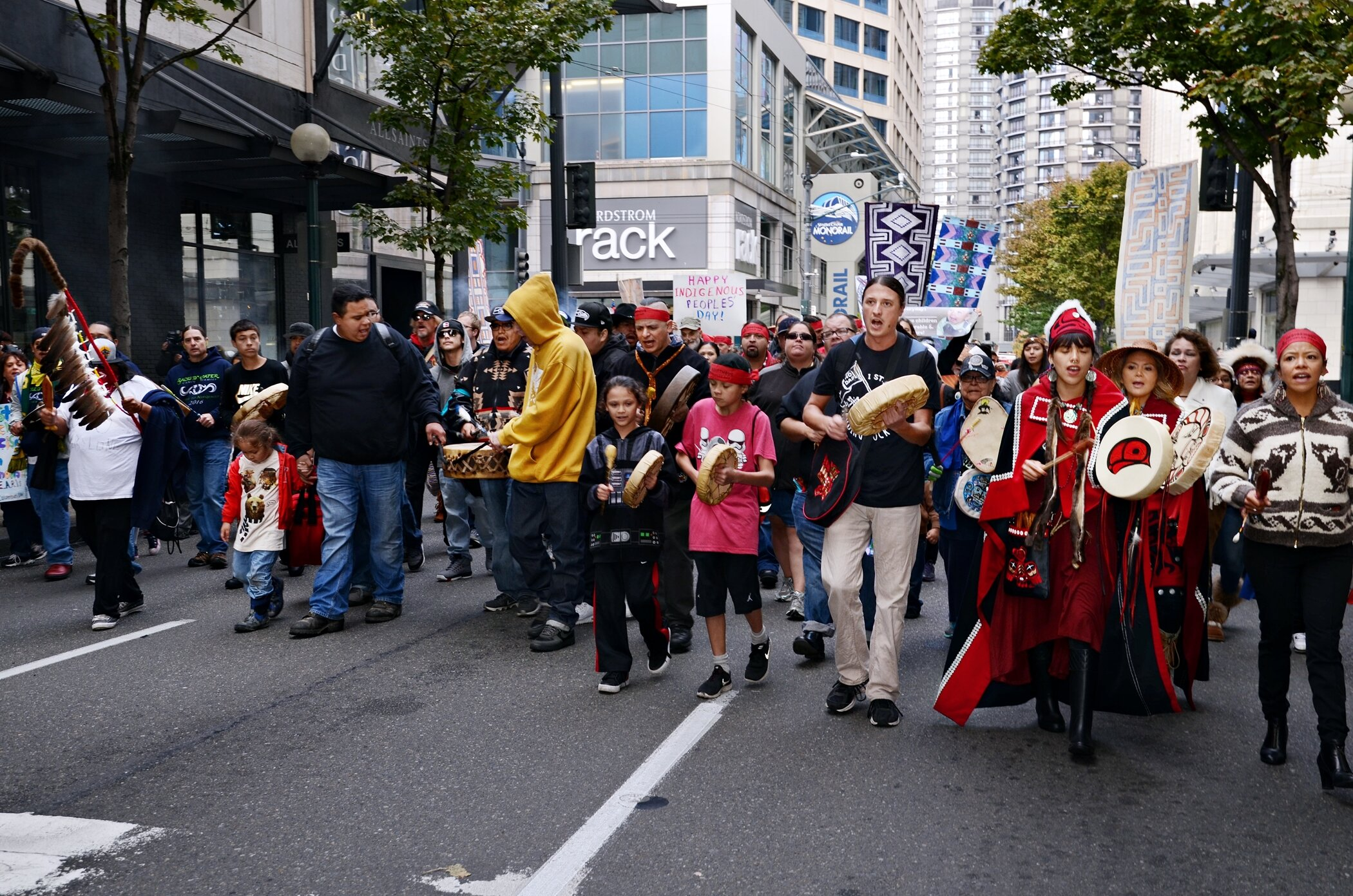 Seattle Indigenous Peoples' Day march