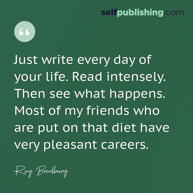 So, you want to be a writer?  The process of getting becoming a successful author may seem daunting, but all it truly takes is hard work, persistence, and dedication to the craft.  That's why celebrated Author Ray Bradbury prescribes daily writing and reading to writers everywhere!  If you write every day, your book WILL get done. And if you read intensely, you'll start to pick up on the writing tools your favorite writers use, and your writing will keep getting better as a result.  Do you write every day? If not, it's time to start!  P.S. If you know you want to write a book but you're struggling with where to start, head over to the LINK IN OUR BIO for a FREE TRAINING on How to Write & Launch Your Book to $10,000 in 90 Days! - - - #amwriting #writingtips #writinginspiration #inspirationalquotes #writingmotivation #writingresources #selfpublish #selfpublished #selfpublishing #writingcommunity #writersofinstagram #authorsofinstagram #authoradvice #bestseller #bestsellingauthor