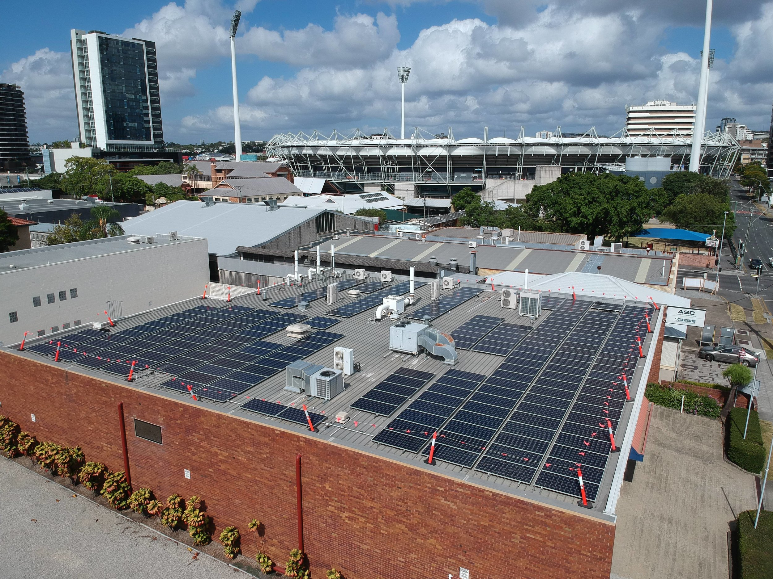 Brisbane Office Building Rooftop Solar Power System