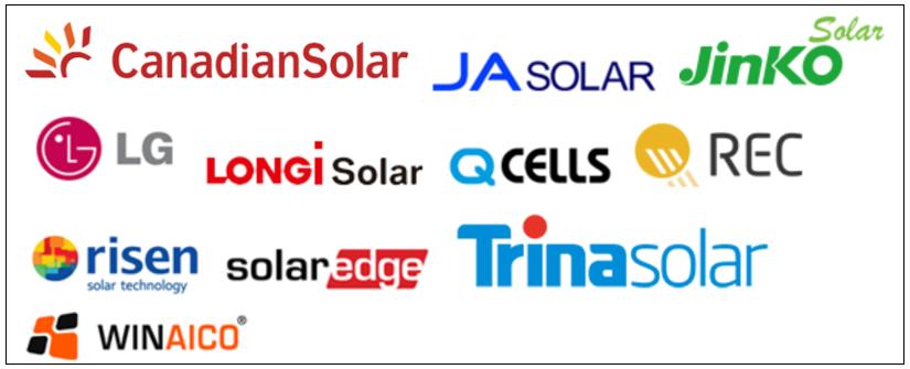 Trusted solar panel brands solar installations