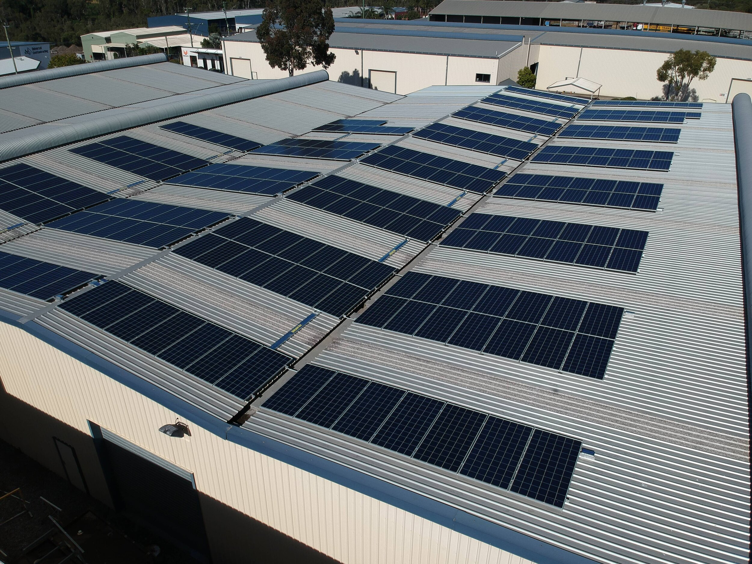 A 100kW solar system on an industrial shed that received nearly $60,000 in incentives under the Federal incentive scheme.