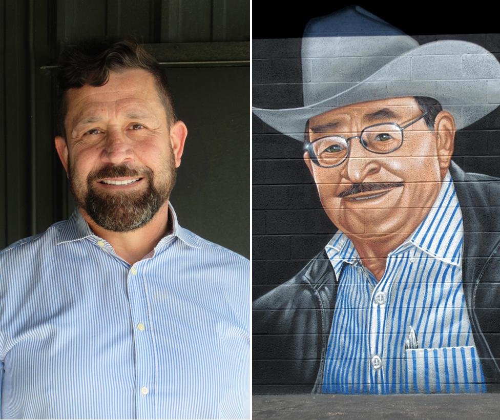 Ramon Valdez, Founder/ Mural by street artist, Tetris, of Ramon's father