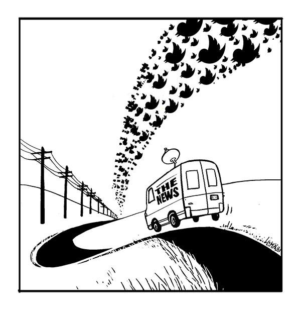 """Follow That Bird"" for Internet Evolution.  View more cartoons."