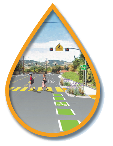 Calm traffic to make a safer walking and biking experience, especially near schools. -