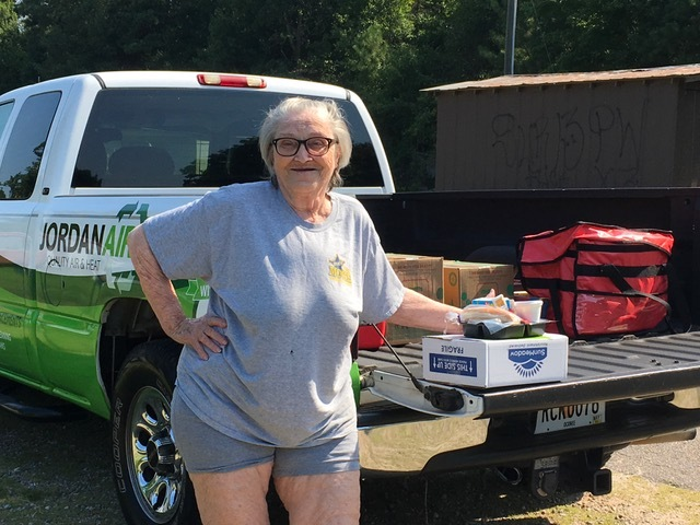 Jordan Air participates in a Madison Co Rotary club service project, delivering meals on wheels throughout the Madison Co community