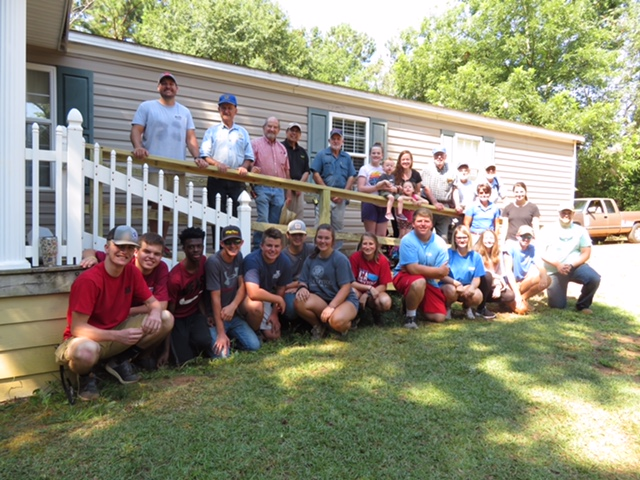 Jordan Air supports Madison Co Rotary club service project of building handicap ramps for those in need