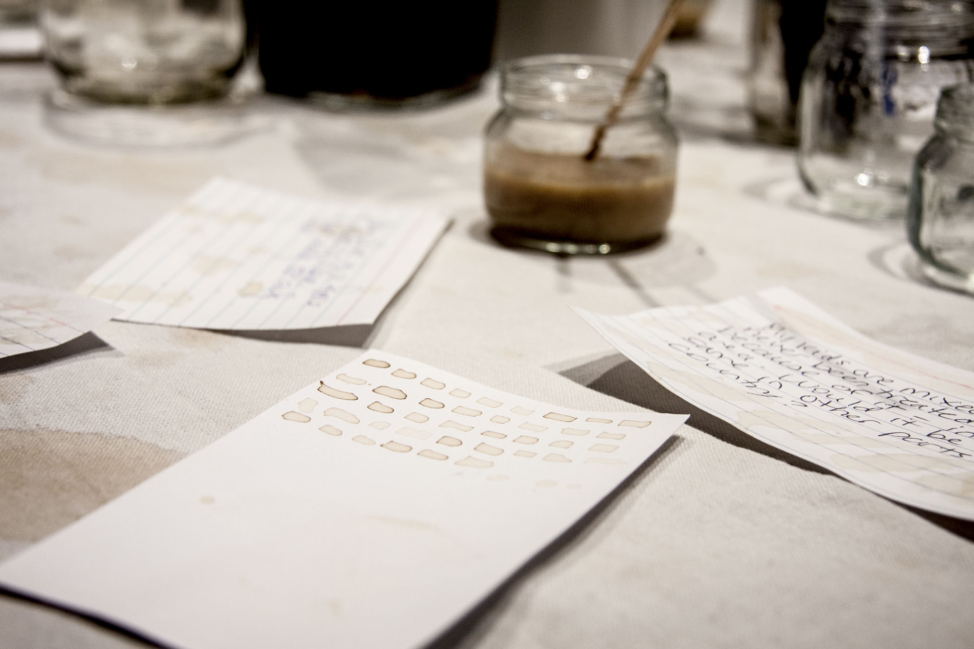 Café con Leche Conversation Residues, detail