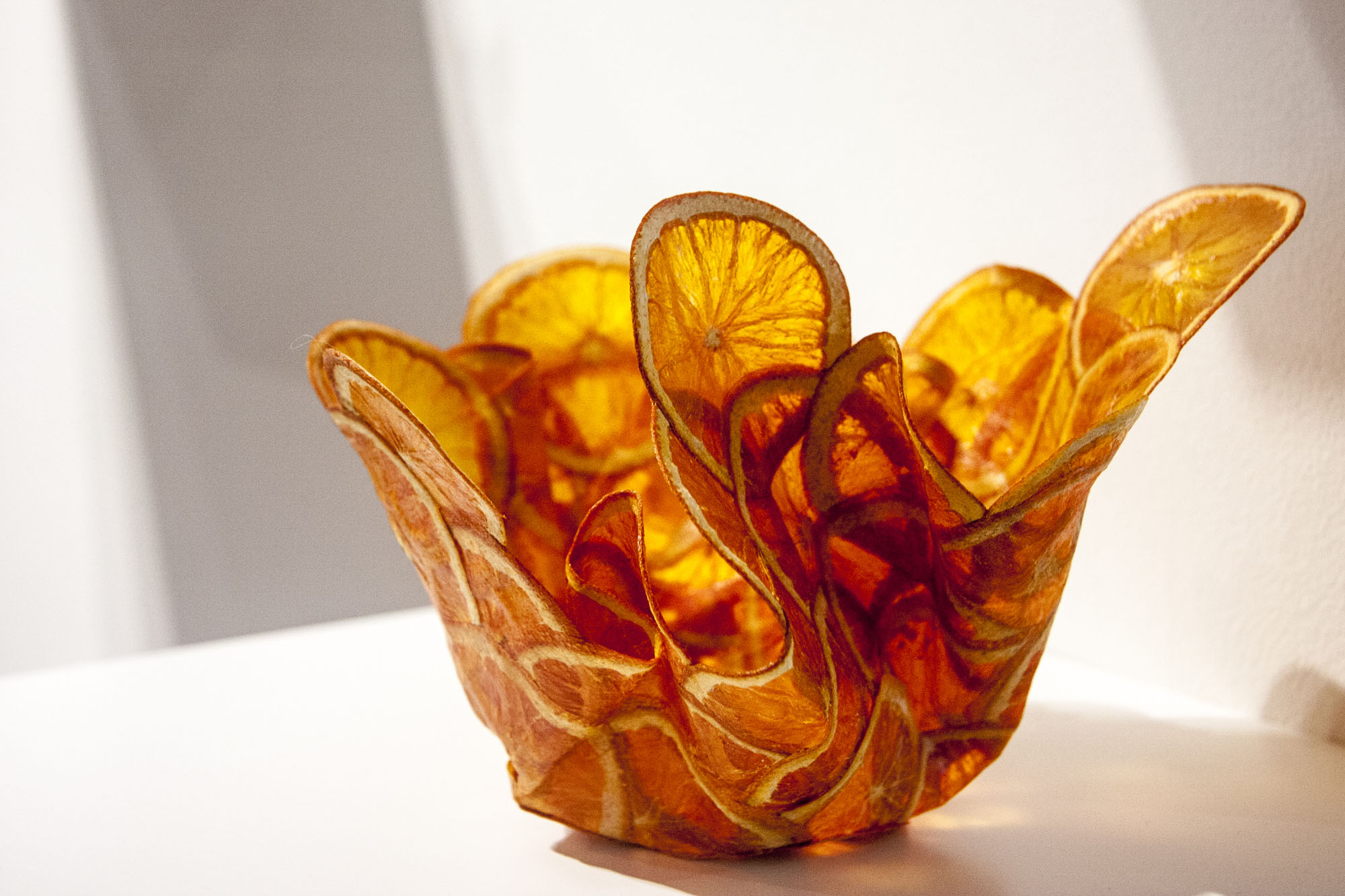 Orange Parchment Bowl, individual image