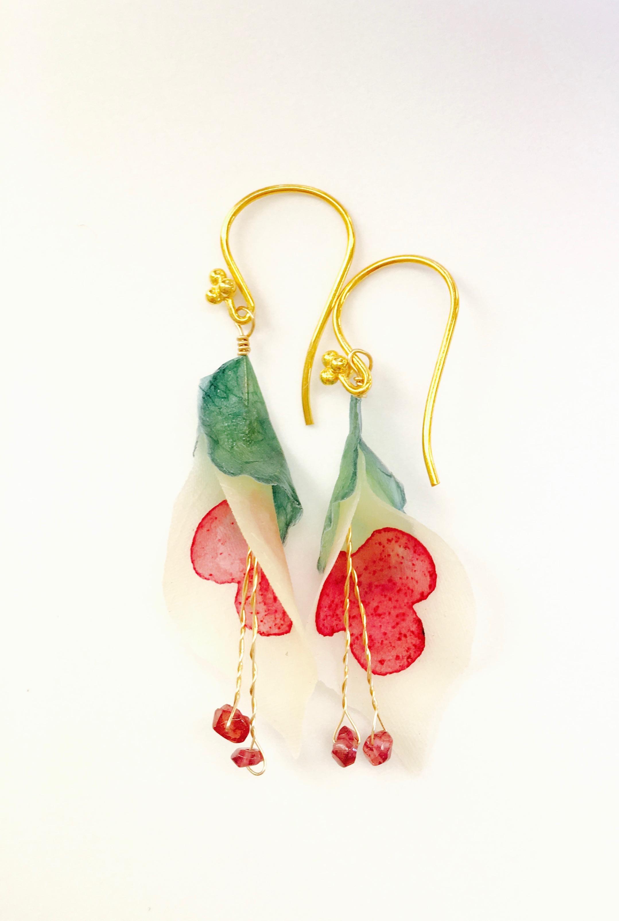 Vegetable Parchment Earrings