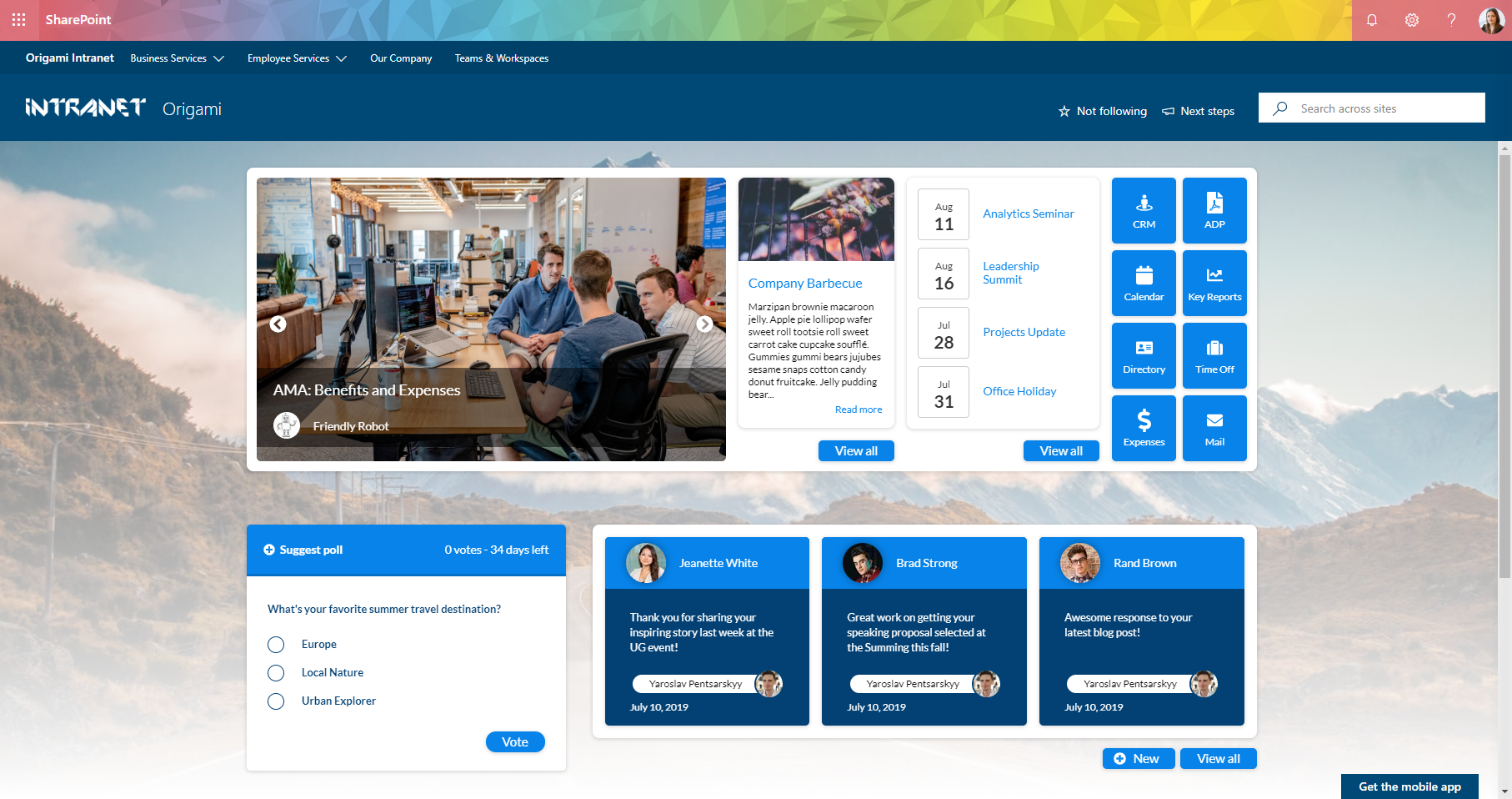 Origami Intranet - Homepage - Modern Intranet - Modern SharePoint.PNG