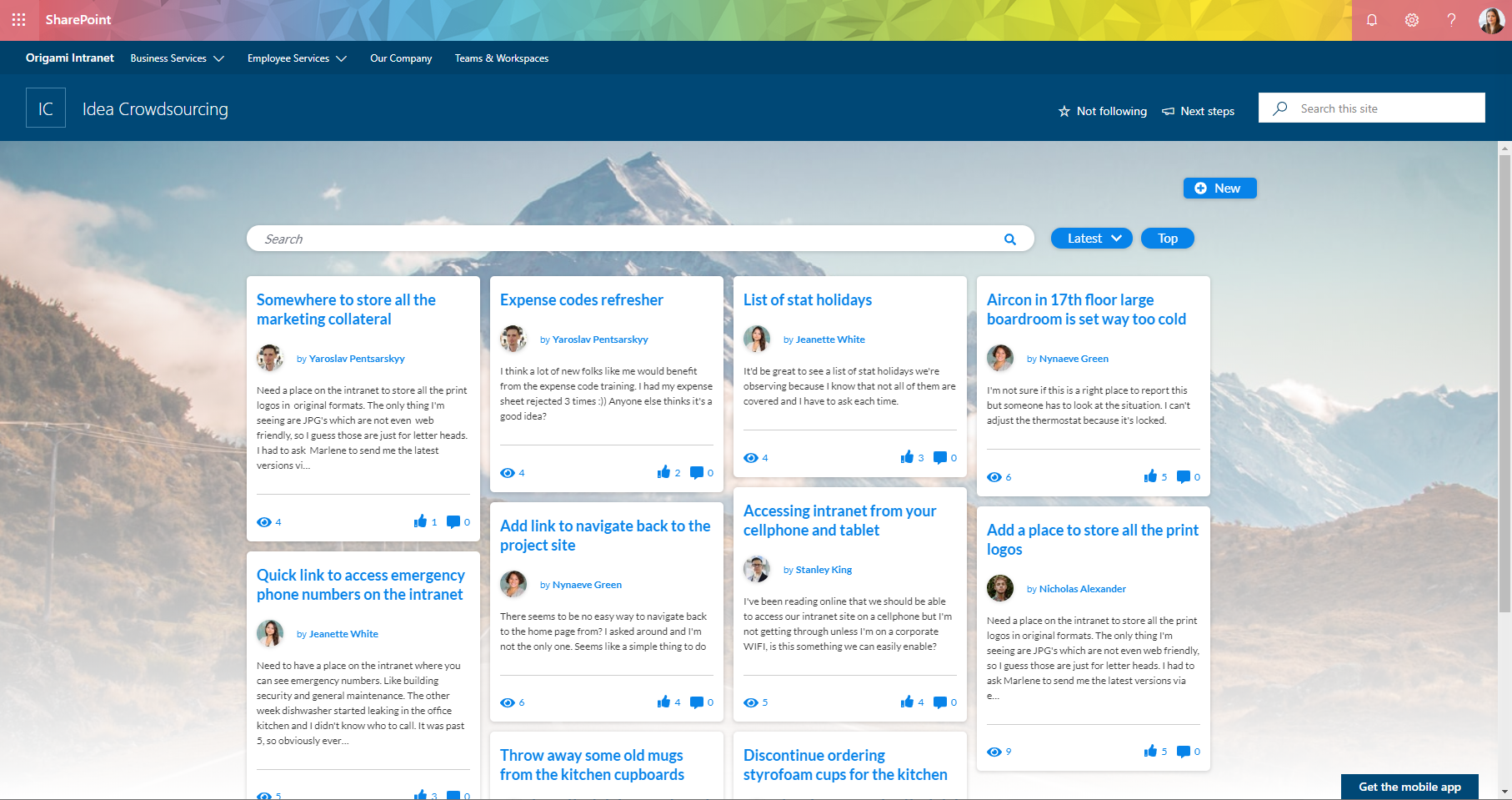 Origami Intranet - Idea Directory - Modern SharePoint.PNG
