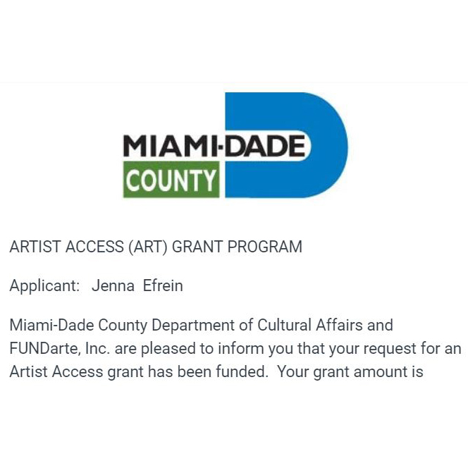 - NewsI'm so excited to announce that I have become a Miami- Dade County Artist Access Grant Awardee. Thank you Miami-Dade Department of Cultural Affairs and FUNDarte!Looking forward to learning and sharing with my fellow artists at the Glass Art Society Conference this year in St. Petersburg, Floridahttps://www.glassart.org/2019stpetefl.html