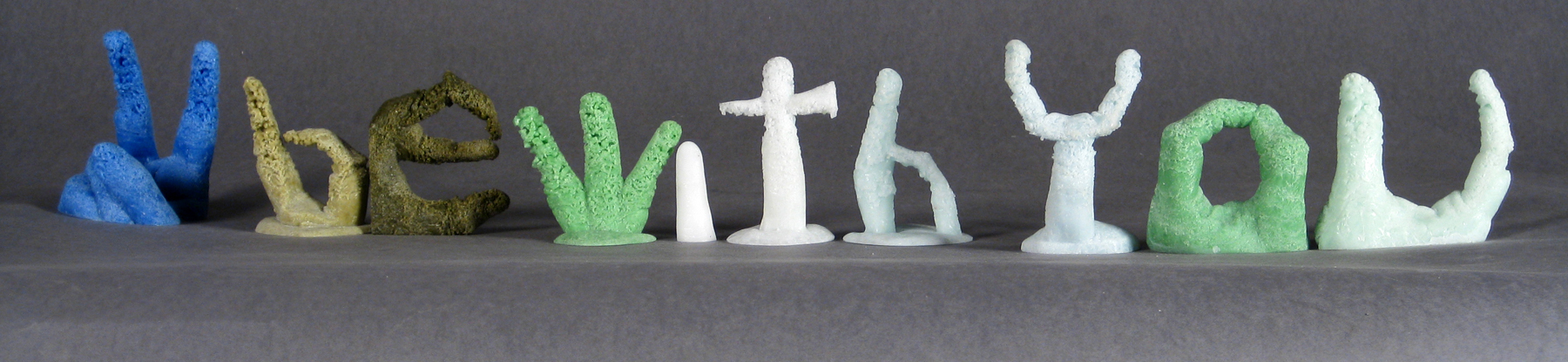 Old Ideas  2014  Kiln cast bottle glass  Dimensions variable