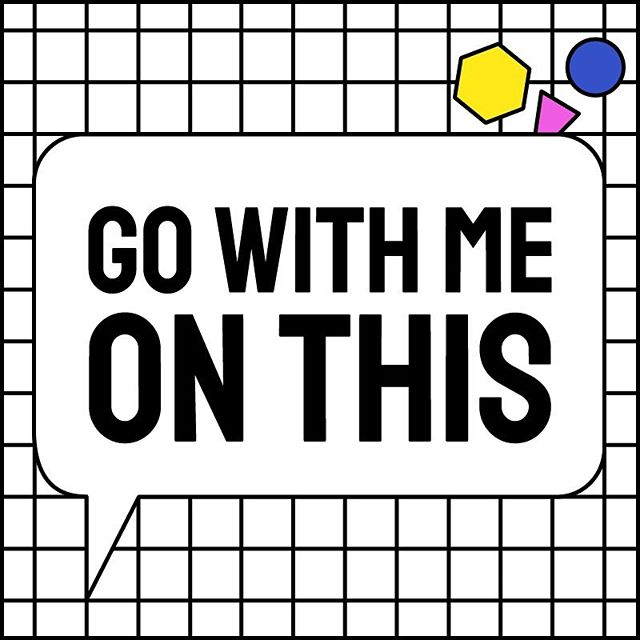 discarded designs for @gowithmeonthis, a podcast that debates big ideas regarding education