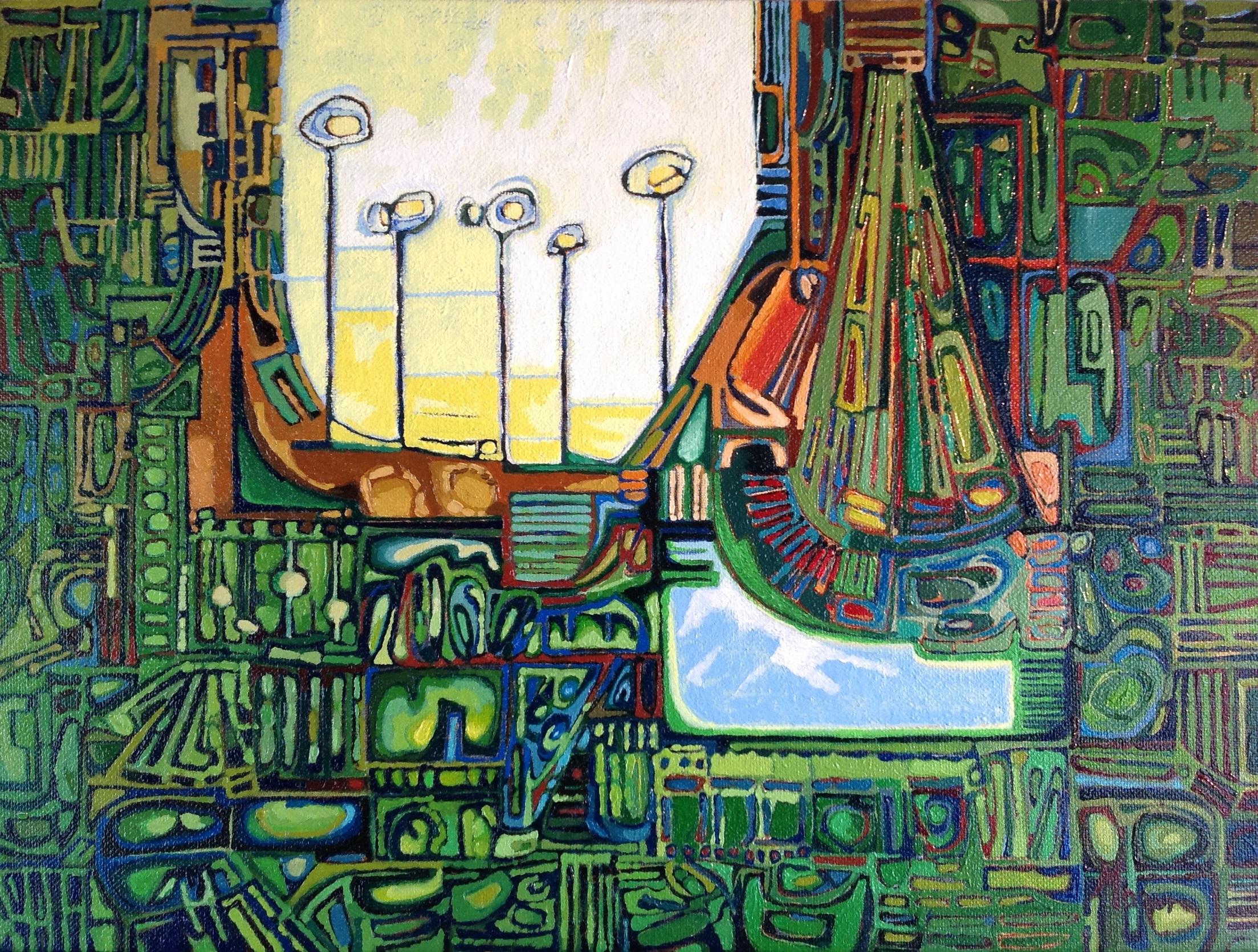Racine Oil  by marta mazur