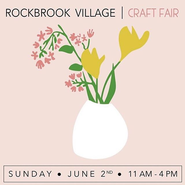 Be sure to check out the @rockbrookvillage Craft Fair this Sunday, June 2nd! 🌷🌸 . . #rockbrookvillagecraftfair #rockbrookvillage #shopomaha #shoplocal #shoplocalomaha #summerart #craft #instacraft #omaha