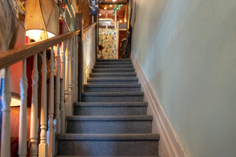 stairs heading up at highjinx