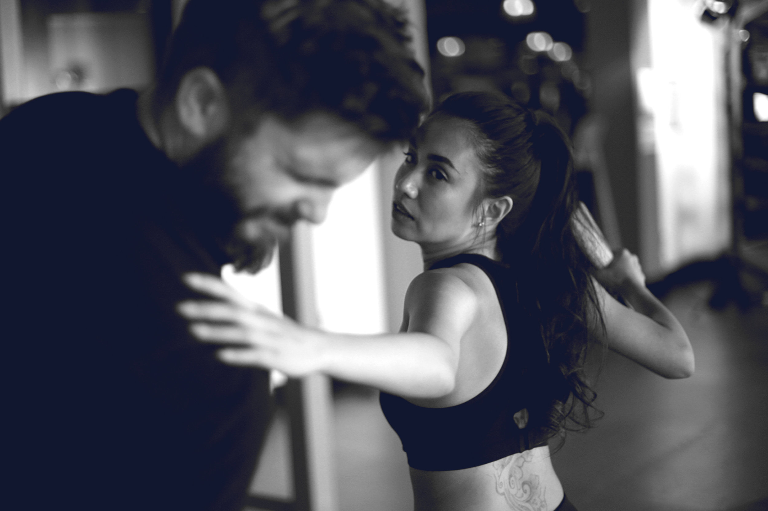 WE GET FIT - Self-defense and self-protection are important issues. We take our training seriously. Not only are our classes useful and empowering but also fitness focused.