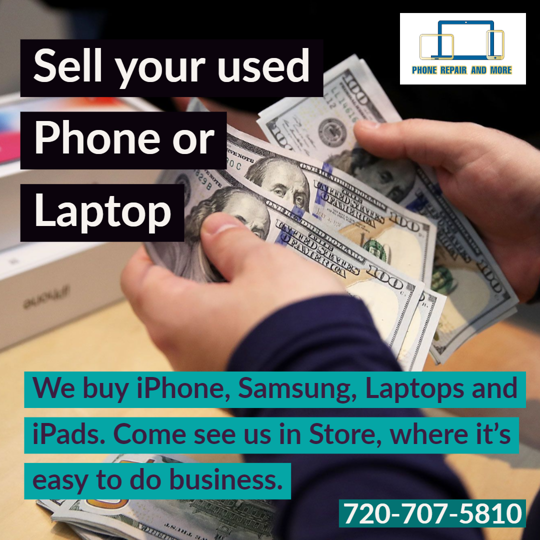 Cash for Phones, Laptops, and Tablets.