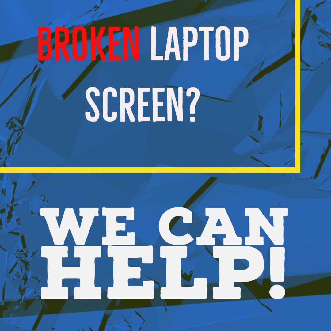 Broken Laptop LCD Screen Repair.