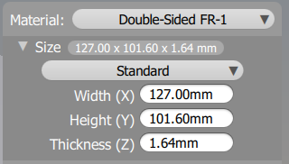 This is what the thickness will initially look like in the Bantam Tools Desktop Milling Machine Software.