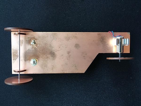 Bottom of PCB Racer
