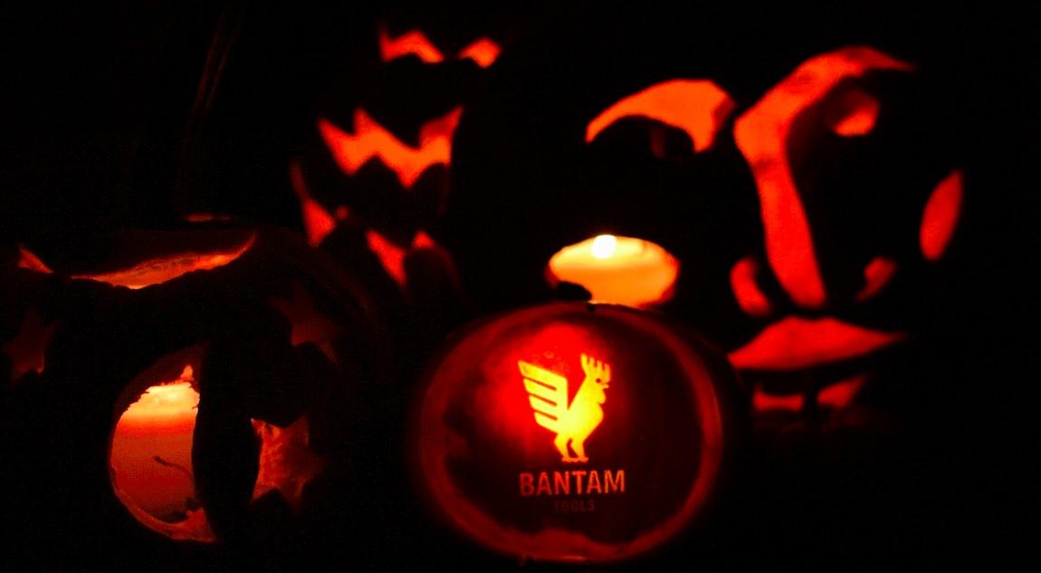 Finished pumpkin all lit up!