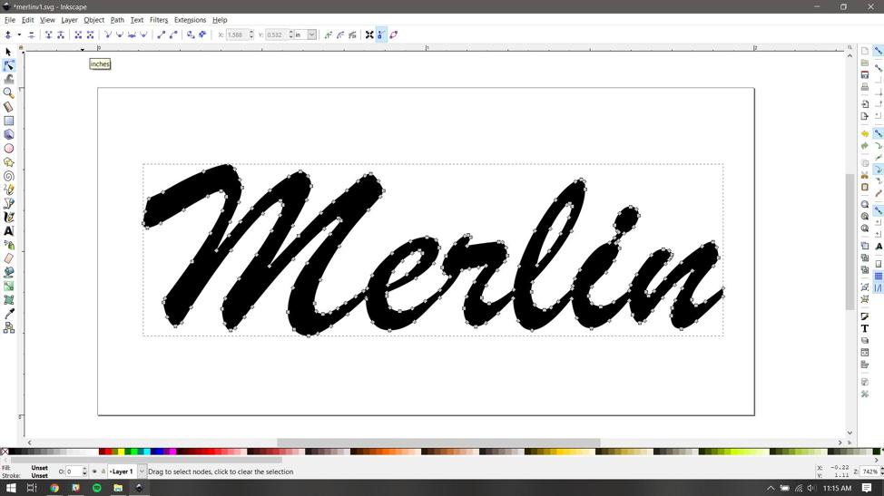 Design in InkScape.