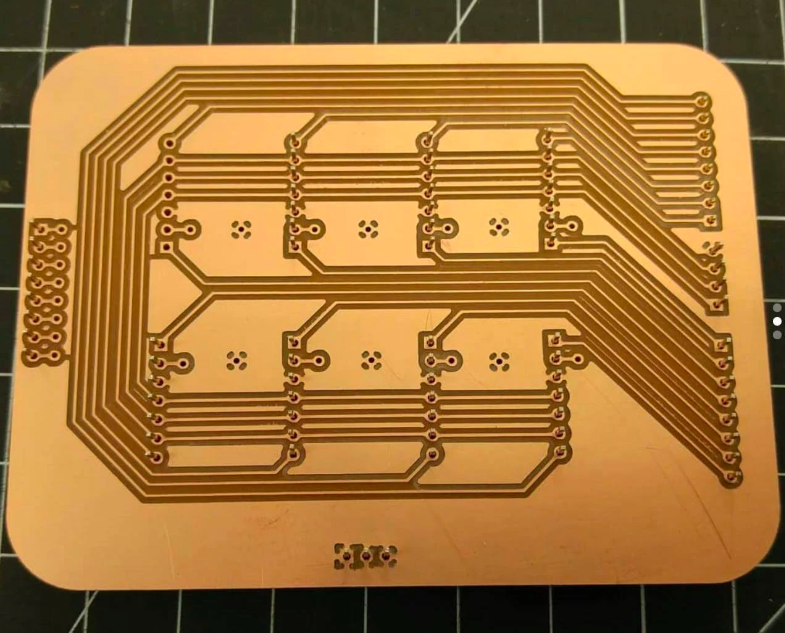 Circuit board milled on the Bantam Tools Desktop PCB Milling Machine