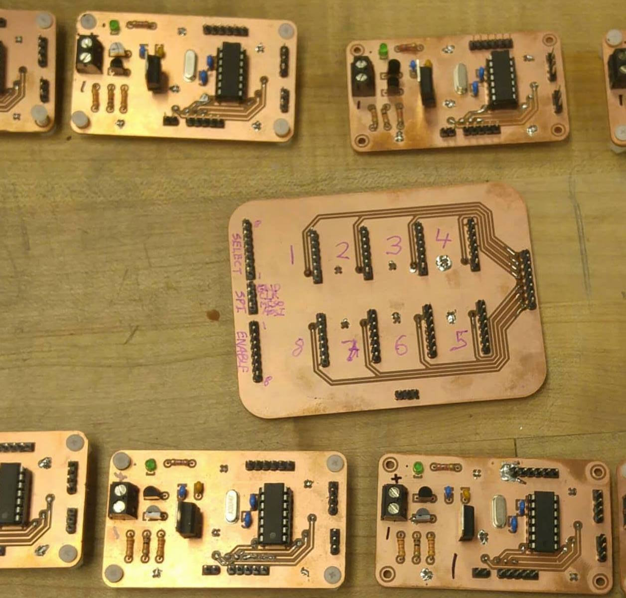 These boards were designed in  DipTrace  and milled on the precise, reliable Bantam Tools Desktop PCB Milling Machine.