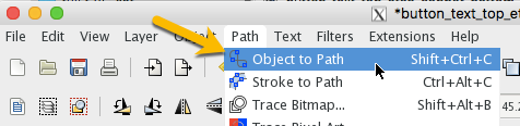 "Select ""Path"" > ""Object to Path"""