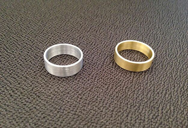 Aluminum and brass ring
