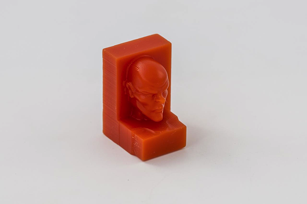 Face milled into machinable wax