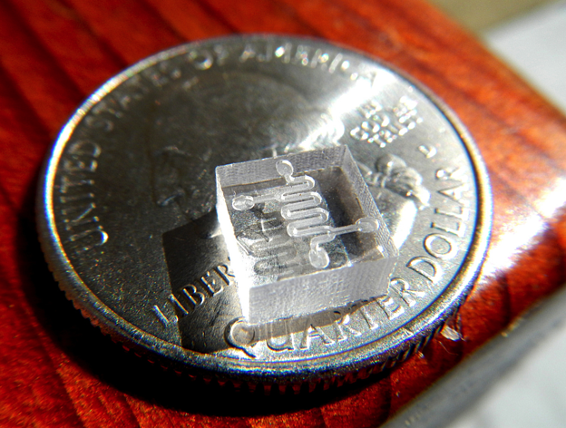 Microfluidics with acrylic