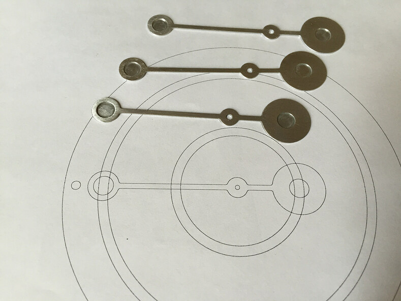 Magnets and their designs for the kinetic magnetic clock.