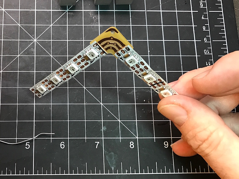 Soldered PCB and LED Strips