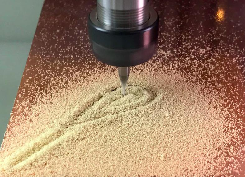 Collin Cunningham milling on the Bantam Tools Desktop PCB Milling Machine