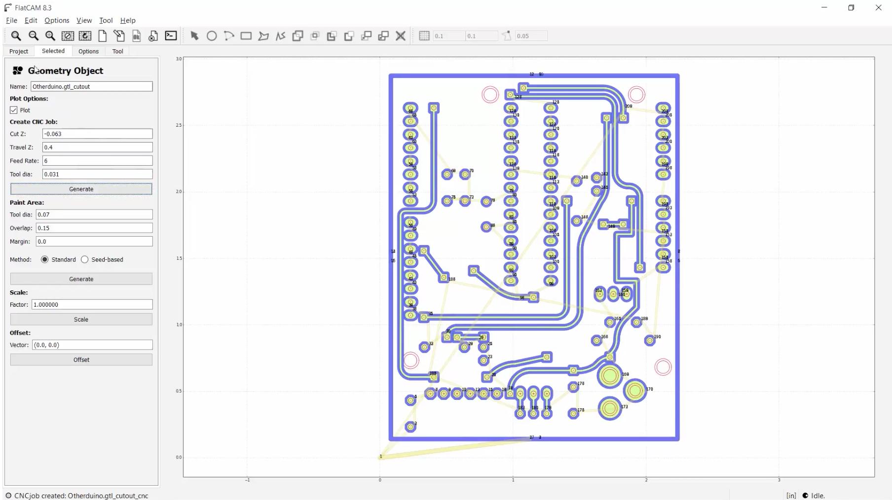 PCB design in FlatCam
