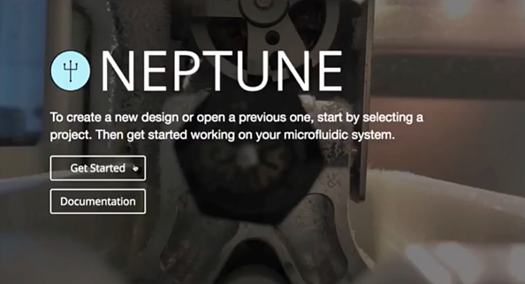 This is what the Neptune homepage looks like.