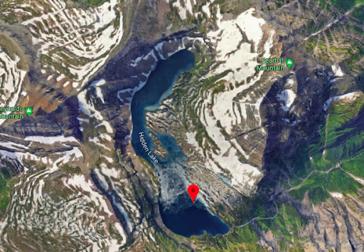 Google Maps image of Hidden Lake in Glacier National Park