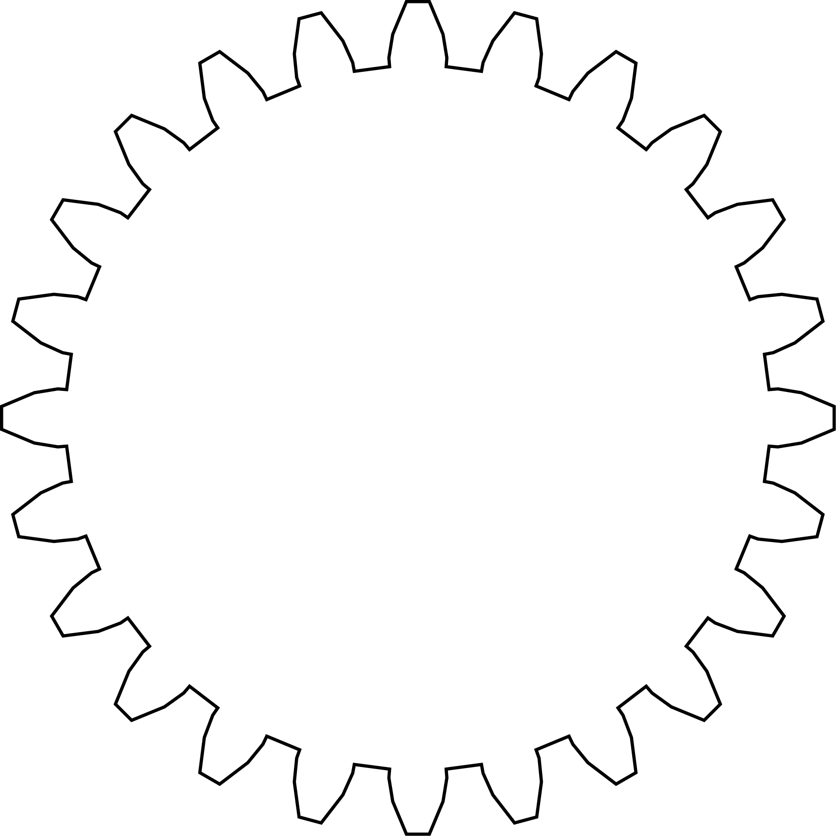 Outline of gear.