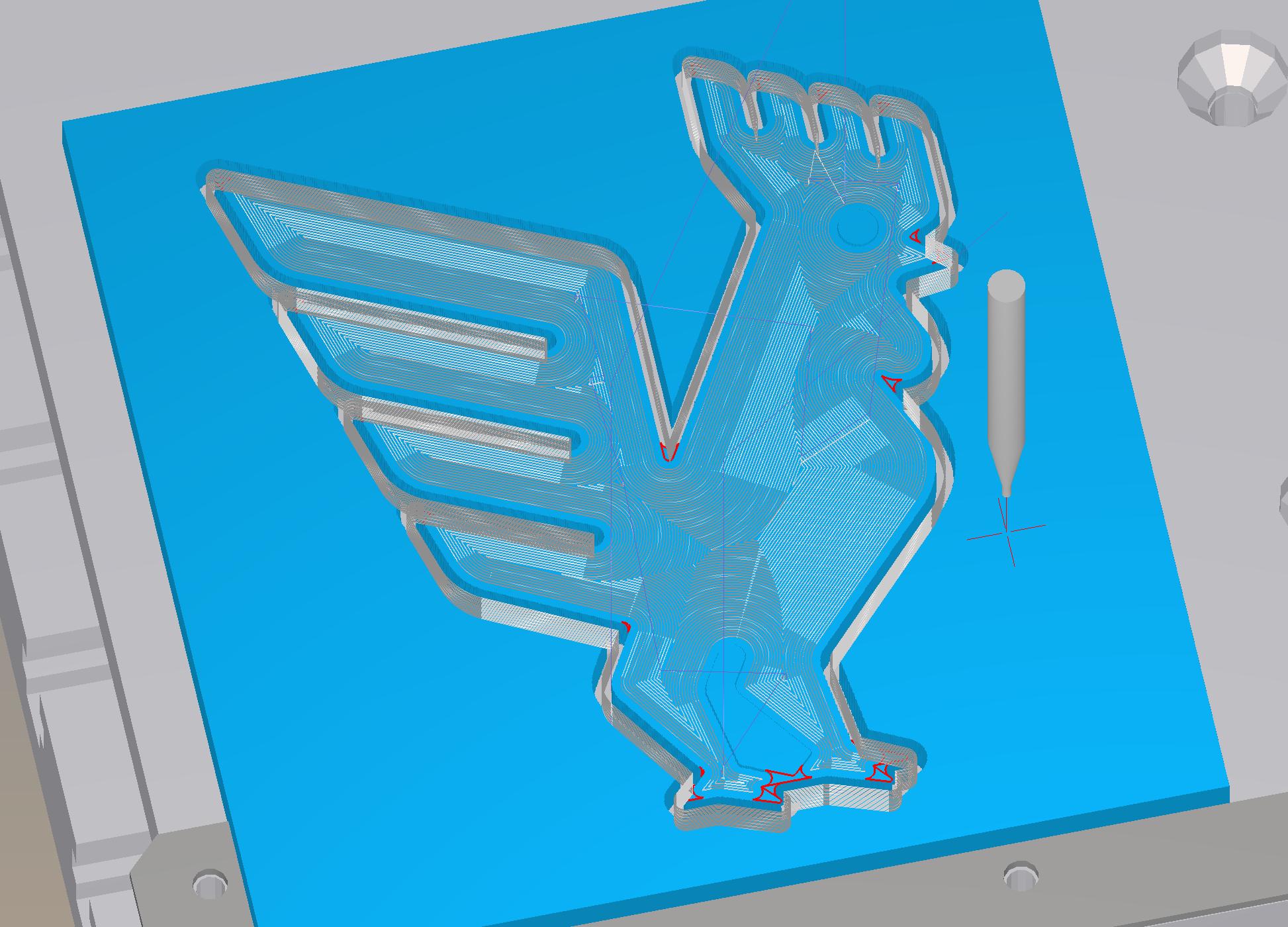 Bantam Tools rooster in the Bantam Tools Desktop Milling Machine Software.