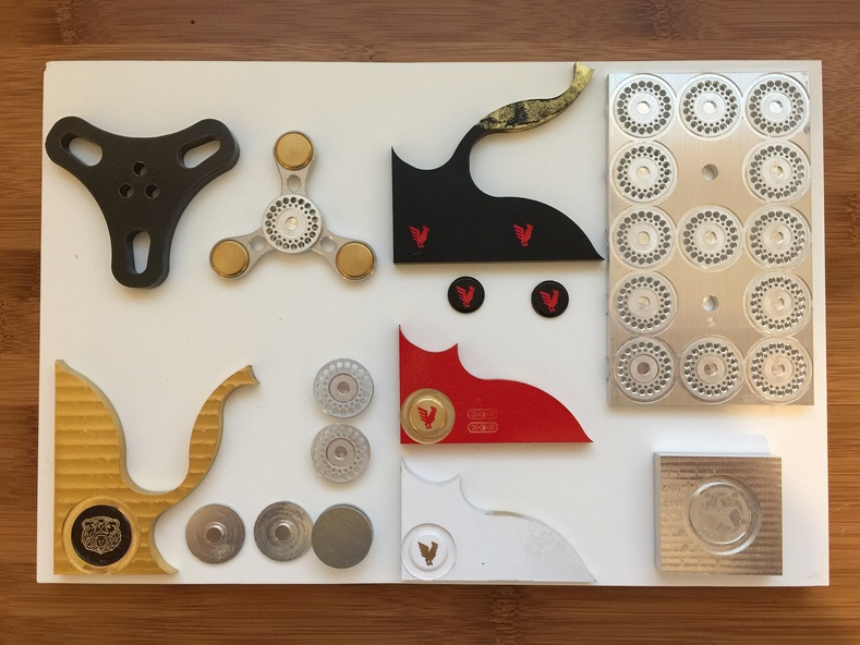 Spinner pieces that Ed's been testing out.