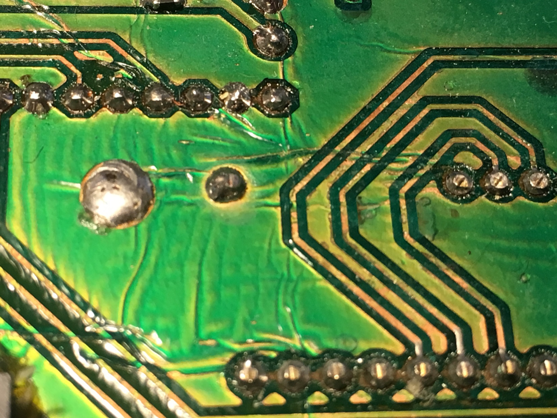 When you laminate the PCB at high-temperatures you'll get these wrinkles on the board.